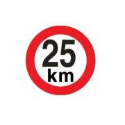 Sticker limitare 25 km/h