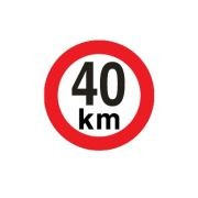 Sticker limitare 40 km/h