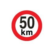 Sticker limitare 50 km/h