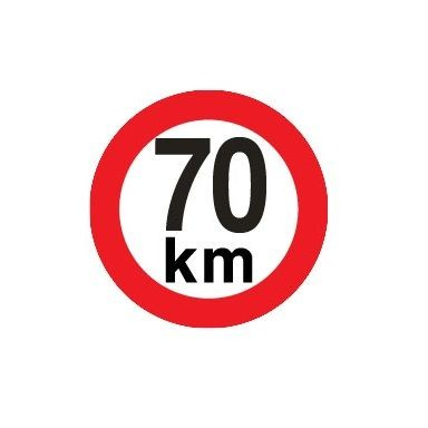Sticker limitare 70 km/h