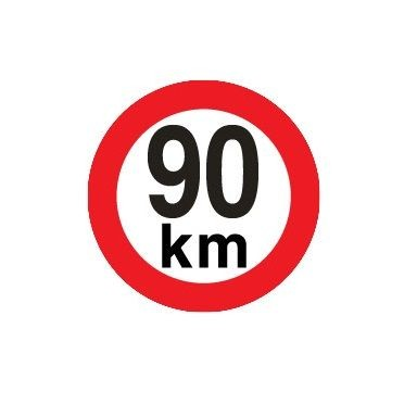 Sticker limitare 90 km/h