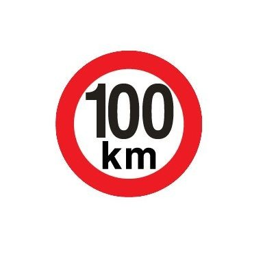 Sticker limitare 100 km/h